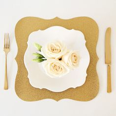 Gold Glitter Baroque Paper Placemats - Pack of 10 by SweetPaperShopOnEtsy on Etsy https://www.etsy.com/listing/200786683/gold-glitter-baroque-paper-placemats