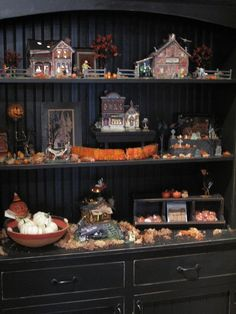 hutch for me Halloween is out but fall village is in!