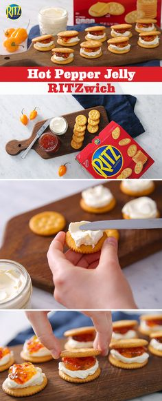 Get springtime with your neighbors off to a zesty start with Hot Pepper Jelly RITZwiches. Simply spread cream cheese onto RITZ Crackers, add the hot pepper jelly and top it off with a final RITZ Cracker. Before you know it, the neighborhood will be raving about these delectable bites!