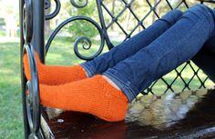 Вязаные носки от YourCozyMood на Etsy