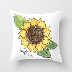 Sunflowers Cushion Covers Decorative Chair Pillowcase Home Decor Sofa - Single side 45x45cm / Sunflower  06