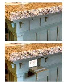 Hidden Electrical Outlet in Kitchen Island
