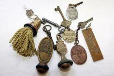 vintage hotel keys