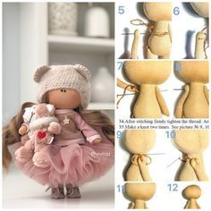 Doll Patterns Free, Doll Sewing Patterns, Sewing Dolls, Doll Clothes Patterns, Sewing Tutorials, Handmade Dolls Patterns, Doll Making Tutorials, Diy Doll, Diy Rag Dolls