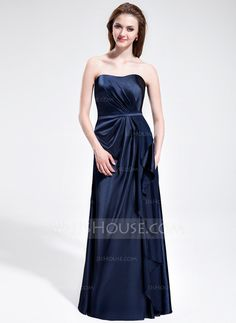 Bridesmaid Dresses - $116.99 - Sheath Sweetheart Floor-Length Charmeuse Bridesmaid Dress With Ruffle (007025354) http://jjshouse.com/Sheath-Sweetheart-Floor-Length-Charmeuse-Bridesmaid-Dress-With-Ruffle-007025354-g25354
