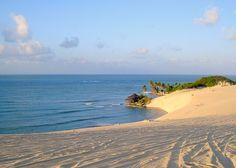 """""""Batendo na areia, molhando os cocares dos coqueiros..."""" Genipabu Beach Natal - Rio Grande do Norte"""