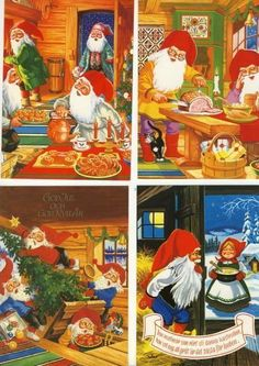 Christmas 2017, Christmas Cards, Gnomes, Elves, Paper Dolls, Witches, Fairies, Angels, Santa