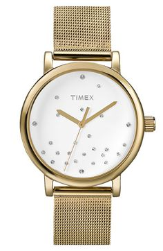 Timex® Round Mesh Strap Watch | Nordstrom