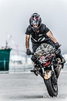 #MotorcycleStunt,#ZX-6R,#Kawasaki,#Stoppie @Sapporo,Japan