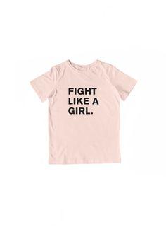Fight Like A Girl Kid Tee