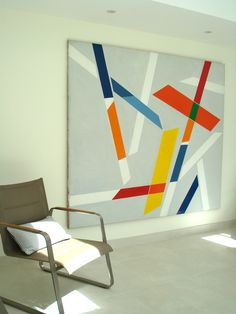 'Signes dans l'Espace II' by René Roche bathed in sunlight in its new home.