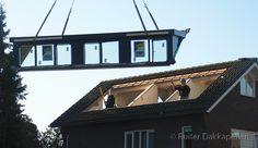 Schnelligkeit und Fachwissen Platzierung in 1 Tag Dormer Roof, Shed Dormer, Dormer Windows, Bungalow Renovation, Attic Renovation, Attic Remodel, House Extension Design, House Design, Loft Conversion Roof