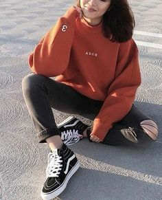 38 Comfy Casual Winter Streetwear for Girl Mode Outfits, Grunge Outfits, Grunge Fashion, Winter Outfits, Casual Outfits, Fashion Outfits, Outfits With Black Vans, Black Outfit Grunge, Black Grunge