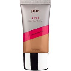 PUR Cosmetics 4-in-1 Mineral Tinted Moisturizer SPF 20, Dark 1.7 oz... ($18) ❤ liked on Polyvore featuring beauty products, makeup, face makeup, tinted moisturizer, mineral makeup, mineral tinted moisturizer, spf tinted moisturizer and mineral powder makeup
