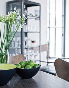 Simple green counter decor