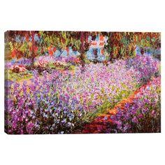 Jardin de Giverny by Claude Monet Canvas Print