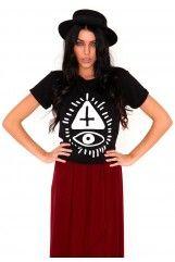 Amelia Mystic Symbols Tee In Black