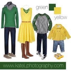 Green + Yellow // Family Outfit by katelphoto on Polyvore featuring Yumi, Tory Burch, Daphne, G-Star Raw, Doublju, Sperry, J.Crew and Carter's