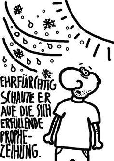 Oktober Herbst Kalender Cartoon Deutsch German lustig