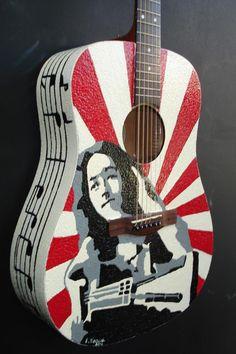 Rory Gallagher eggshell guitar