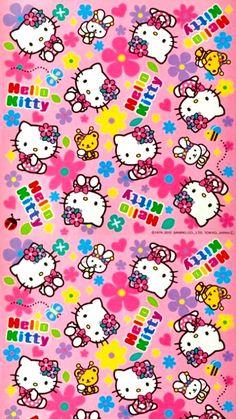 Hello Kitty Iphone Wallpaper, Hello Kitty Backgrounds, Sanrio Wallpaper, Cute Disney Wallpaper, Kawaii Wallpaper, Wallpaper Iphone Cute, Cute Cartoon Wallpapers, Vintage Flowers Wallpaper, Hippie Wallpaper