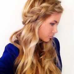 classic braid down hair - Google Search #CrownBraidHalf