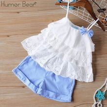Humor Bear Baby Girl Clothes 2019 Hot Summer New Girls' Clothing Sets Kids Bay clothes Toddler Chiffon bowknot coat+Pants Girls Summer Outfits, Dresses Kids Girl, Toddler Girl Outfits, Summer Girls, Sleeveless Outfit, Kids Suits, Girls Suit, Clothes 2019, Frocks For Girls