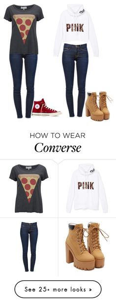 """""""Untitled #260"""" by dayonajanell on Polyvore featuring Frame Denim, Wildfox, Victoria's Secret PINK and Converse"""