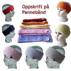 Ravelry: Pannebånd i perlestrikk pattern by StrikkeBea Crochet Amigurumi Free Patterns, Crochet Stitches Patterns, Baby Patterns, Knitting Patterns Free, Crochet Hats, Vintage Knitting, Baby Knitting, Crochet Backpack, Mode Crochet