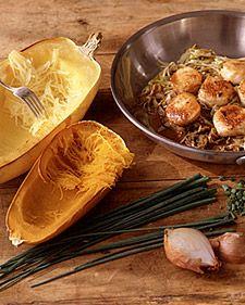 spaghetti squash and scallops