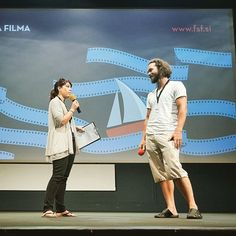 Interview on stage after my #animatedfilm premiered at the FSF Film Festival #festivalslovenskegafilma #filmfestival #slovenianfilmfestival #portoroz (photo: Matjaz Rust)