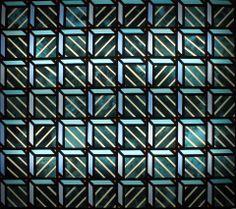 Witraż geometryczny wykonany techniką klasyczną. www.bzikstudio.com