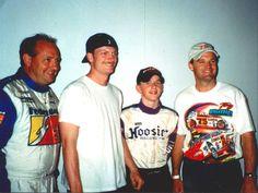 Ken Schrader, Dale Jr. 15 yr. old Justin Allgier and Kenny Wallace.