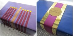 One of my favorite things about Chanukah are the endless possibilities of giftwrap. A few years ago, I decided to start giving my nieces an. Jewish Hanukkah, Hanukkah Crafts, Jewish Crafts, Hanukkah Decorations, Christmas Hanukkah, Hannukah, Happy Hanukkah, Hanukkah Harry, Xmas