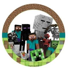 Fiesta de Minecraft: Wrappers y Toppers para Imprimir Gratis.