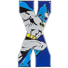 X DC Comics Batman Heroes Embossed Tin Letter⎜Open Road Brands