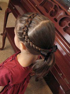 Hair Today: Church Do's and other ideas for little girls' hair.  I especially liked the Halloween hair ideas.