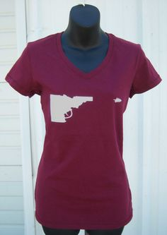 BANANA ink Womens Idaho Gun Tee. $20.00, via Etsy.