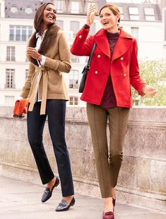 Shop Talbots for modern classic women's styles. You'll be a standout in our Faux-Fur Collar Merino Cardigan - only at Talbots! Faux Fur Collar, Fur Collars, Preppy Style, My Style, Preppy Casual, Casual Attire, Casual Outfits, Dapper Suits, Coats For Women