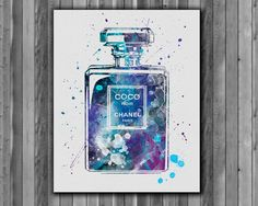 Coco Chanel Perfume Bottle Print   Printable by Myaquamarine