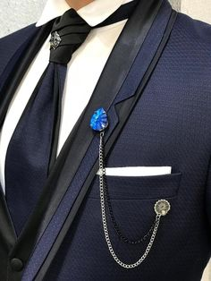 Collection: Spring – Summer 2019 Product: Slim-Fit Tuxedo Color Code: Navy Blue Size: Suit Material: satin fabric, lycra Machine Washable: No Fitting: Slim-fit Package Include: Jacket, Vest, Pants Only Gifts: Shirt, Chain and Bow Tie Dry Clean Only Slim Fit Tuxedo, White Tuxedo, Tuxedo Suit, Wedding Men, Wedding Suits, Wedding Tuxedos, Terno Slim Fit, Tuxedo Colors, Best Casual Dresses