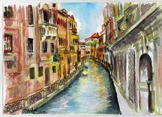 ...Velence...  vászon, akril 30x20 cm