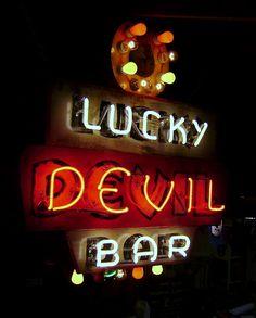 Lucky Devil Bar - Custom neon signs
