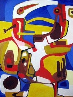 """Naar Karel Appel """"kleine jongen"""" 1951 (painting acryl Martin Oosterwijk born 1958. / Reeuwijk )"""