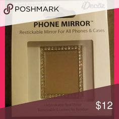 Unbreakable cell phone mirror fits all phone types Restickable mirror fits all phones and leaves no residue after removal. Unbreakable real mirror, perfect for quick makeup touch ups. Accessories Phone Cases