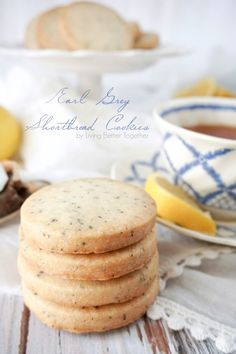 Crisp and buttery shortbread cookies with a hint of Earl Grey, with just 5-ingredients, they're perfect for a Downton Abbey party, tea time, or scarfing down all by yourself!