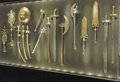 Various weapons at the Topkapı Palace Museum.