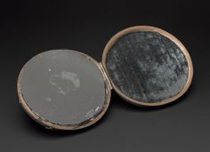 Claude Lorrain mirror in shark skin case, believed at one time to be John Dee's