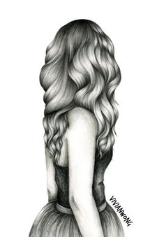 Drawing hair is my forte. This black and white sketch drawing of a girl with long wavy hair is one of my popular hair drawings. If you are: