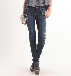 Bullhead Black Coppola Dark Skinny Jeans